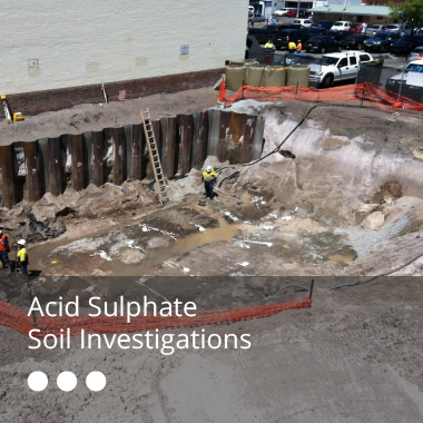 Acid Sulphate Soil Investigations